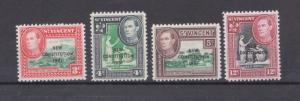 St. Vincent New Constitution 1951 Overprints Mint NH