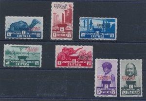 1934 Eritrea, Funeral To Duke Of Abruzzi, N° 213/219, 7 Values, Mlh