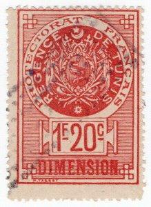 (I.B) France Colonial Revenue : Tunisia Dimension 1.20Fr