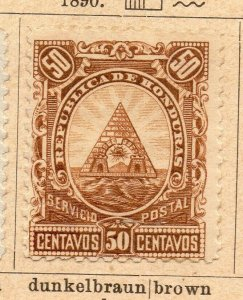 Honduras 1890 Early Issue Fine Mint Hinged 50c. NW-11880