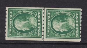 390 Line Pair F-VF original gum mint never hinged with nice color ! see pic !