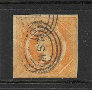 NEW SOUTH WALES 1854-59    8d  DULL YELLOW ORANGE  QV   FU    SG 98