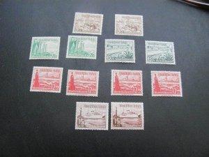 GERMANY 1937 MNH SC# B107/113 SHIPS LOT (115)