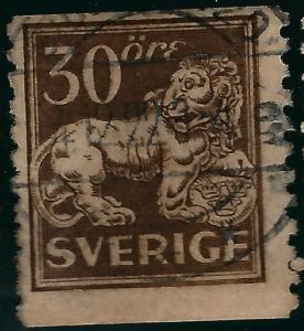 Sweden #125 Lion Coil Used Fine SC$16...Regal Stamp!