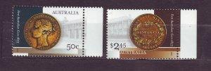 J23776 JLstamps 2005 australia set mnh #2366-7 coins