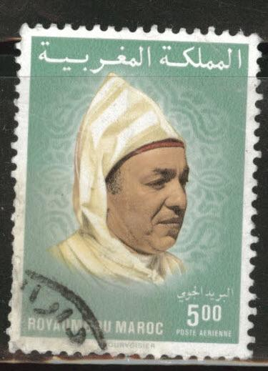 Morocco Scott C21 used 1983 King Hassan II airmail stamp