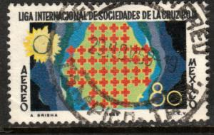 MEXICO C370, 50th Anniv League of Red Cross Societies. USED (1263)