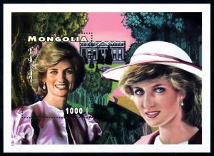 [91838] Mongolia 1997 Royalty Princess Diana Souvenir Sheet MNH