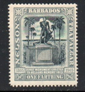 Barbados  Sc  110 1907 1 farthing Nelson Statue stamp mint