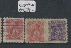 HONDURAS  (P0206B)   SC 90X2, 91   LOT   VFU