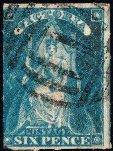 AUSTRALIA / VICTORIA 1858 - SG73 6d bright-blue - see scan