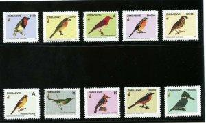 Rhodesia - Zimbabwe 2005 QEII Birds set complete superb MNH. SG 1146-1155.