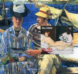 Sao Tome & Principe 2005 EDOUARD MANET Nudes s/s Imperforated Mint (NH)