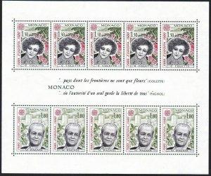Sc# 1228 ss - Monaco - 1980 - Europa Pagnoi & Colette - MNH - superfleas - cv$15