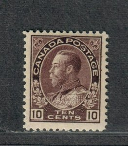 Canada Sc#116 M/LH/F-VF+, Cv. $275