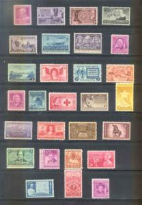 US 1948 Commemorative Year Set with 28 Stamps MNH