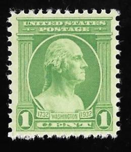 705 1 cent Washington, Stamp mint OG NH EGRADED VF 79