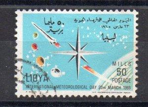 LIBYA - 1965 - INTERNATIONAL METEOROLOGICAL DAY - 50 - Used -