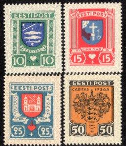 Estonia Scott B28-B31 Mint never hinged.