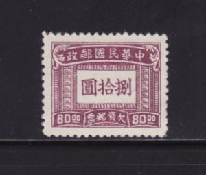 China J94 U Postage Due Stamp