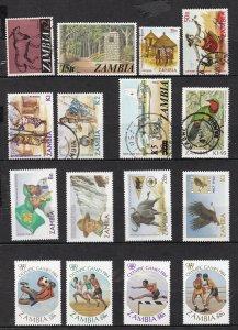 ZAMBIA ^^^^^^#50//385  MNH/MH* used  collection $$@ lar265za