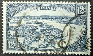 BRUNEI 1924 SCOTT #61 12c Blue USED