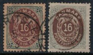 Denmark 30, 30a  CV $23.50