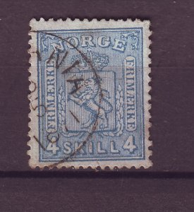 J25553 JLstamps 1867-8 norway used #14 arms