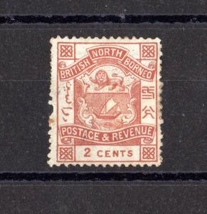 North Borneo 1888 2c SG38 MH X7574