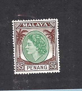 Malaya (Penang), 44, Queen Elizabeth II Single, **MNH**