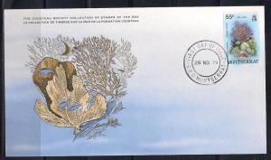 Montserrat FDC card Sc 433 Cousteau Society Sea Fans L68