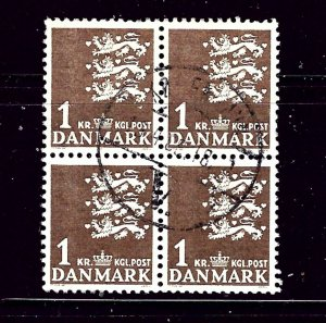 Denmark 297 Used block of 4 1946 issue  may be CTO