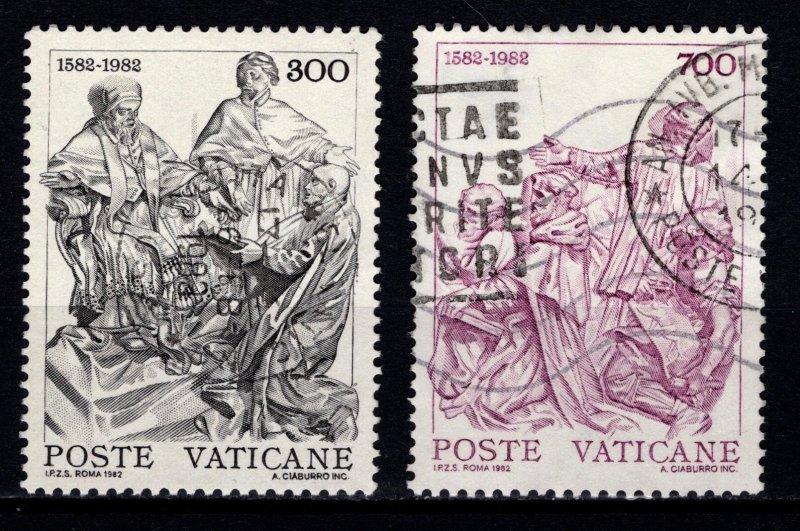 Vatican City 1982 400th Anniversary of Gregorian Calendar, Part Set [Used]