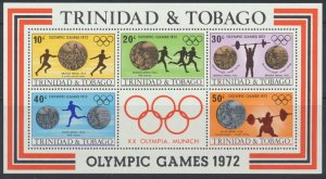 Trinidad and Tobago SG MS427 SC# 227a MNH 1972  Olympic Games please see scan