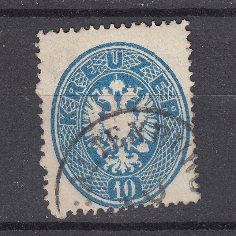 J29468, 1863 austria used  #20 perf 14