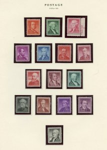 UNITED STATES LIBERTY  SERIES 1954/59  MINT NEVER HINGED AS SHOWN