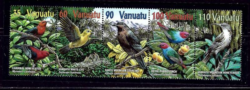 Vanuatu 780a MNH 2001 Birds Strip of 5