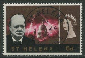 STAMP STATION PERTH St Helena #186 Churchill Memorial 1966 VFU