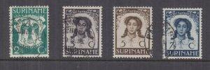 SURINAME, 1938 Liberation of Slaves set of 4, used.