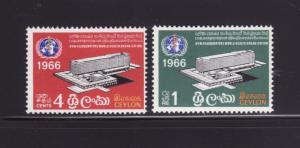 Ceylon 392-393 Set MNH WHO Headquarters Building