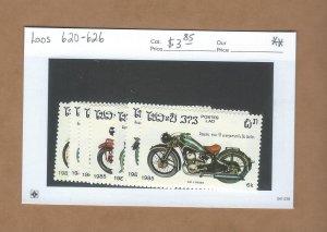 Laos  620-626  MNH