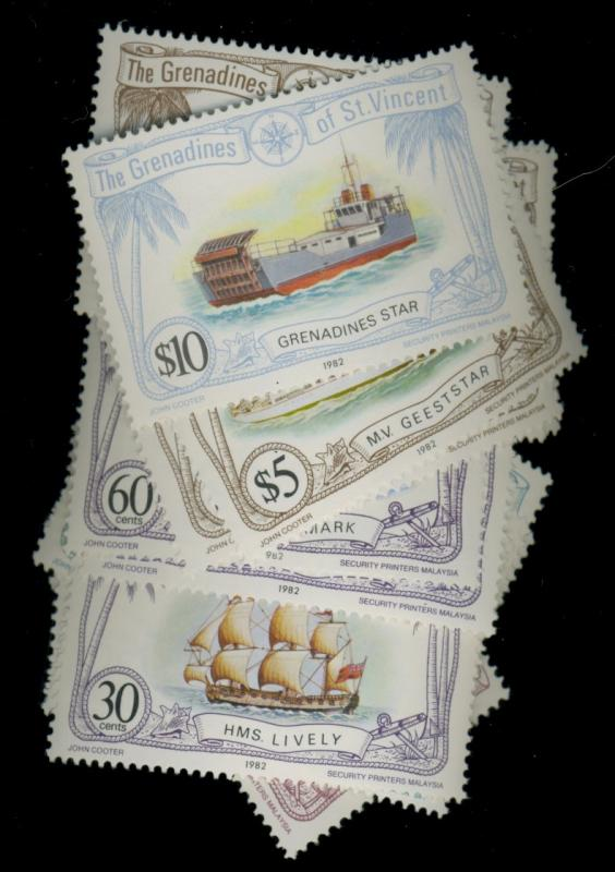 St Vincent Grenadines #222-38 MINT F-VF OG NH Cat$12.5