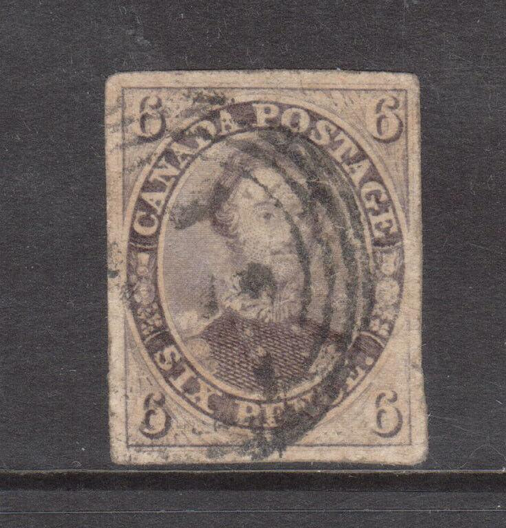 Canada #10 Extra Fine Used With Tiny Thin In Right Margin **With Certificate**