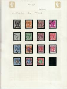 PENANG 1954 SET  USED TO $2