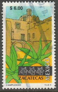 MEXICO 1977, $6.00 Tourism Zacatecas, colonial convent. USED. F-VF. (1491)