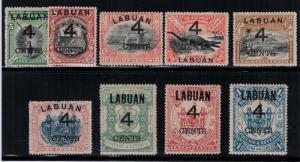 Labuan 1889 SC 87-95 Set LH CV $332.25