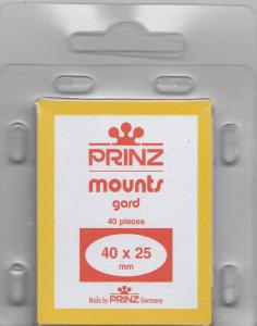 PRINZ 40X25 (40) BLACK MOUNTS RETAIL PRICE $3.99