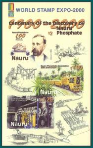 Nauru 2000 Phosphate Exhibition MS, Imperf, MNH 479a,SGMS513a