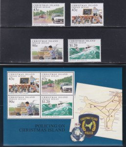 Christmas Island #  303-306, 306a, Island Police Force, NH, 1/2 Cat.