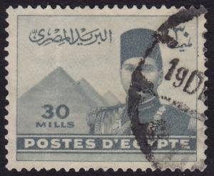 Egypt - 1939 - Scott #234 - used - King Farouk Pyramids